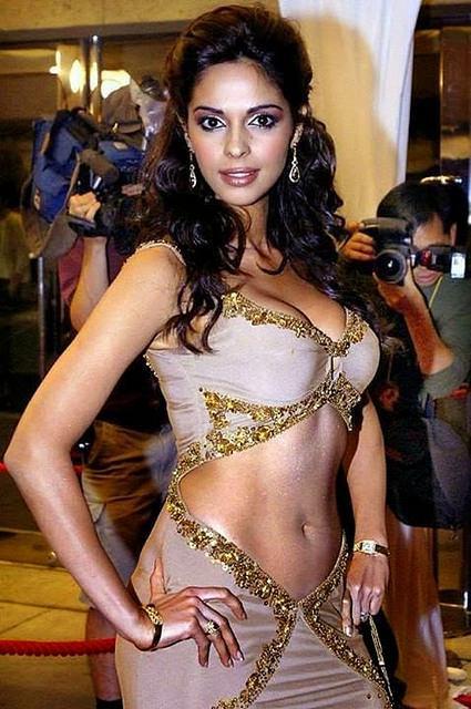 Die schöne indische Bollywood-Schauspielerin Mallika Sherawat