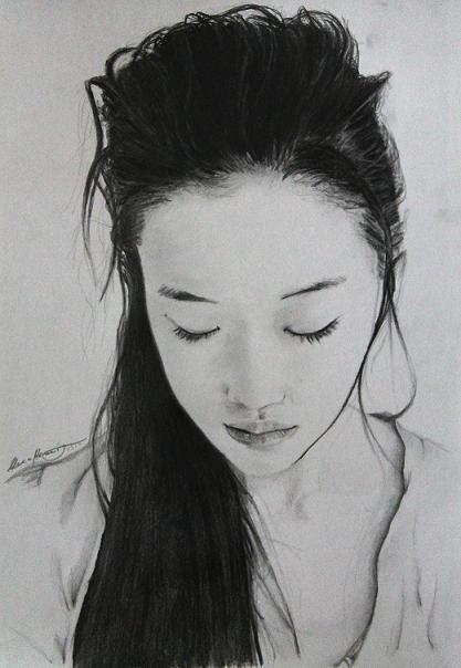 Porträt der wunderschönen japanischen Schauspielerin Yu Aoi
