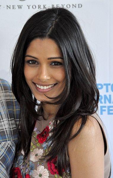 Die international bekannte indische Schauspielerin Freida Pinto