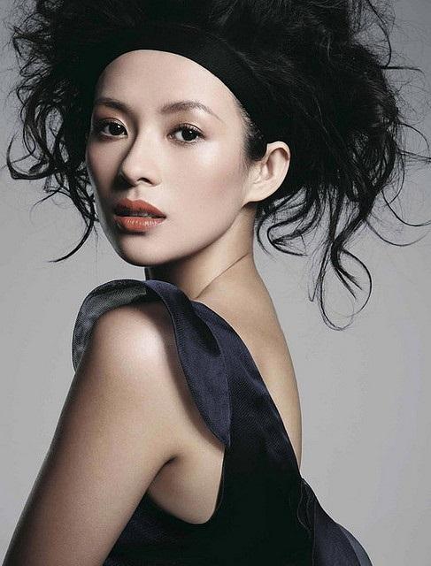 Die hübsche chinesische Schauspielerin Zhang Ziyi
