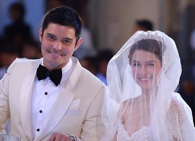Bild des Hochzeitspaares Dingdong Dantes und Marian Rivera