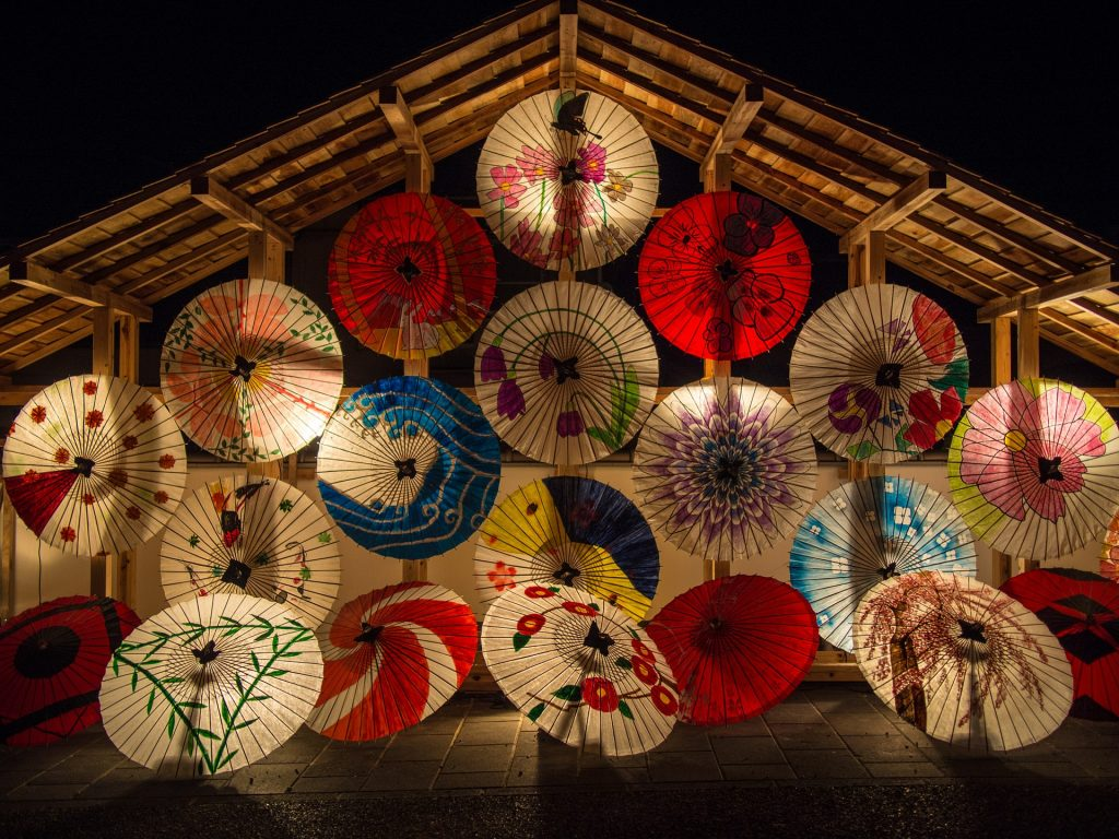 Japanische Schirme